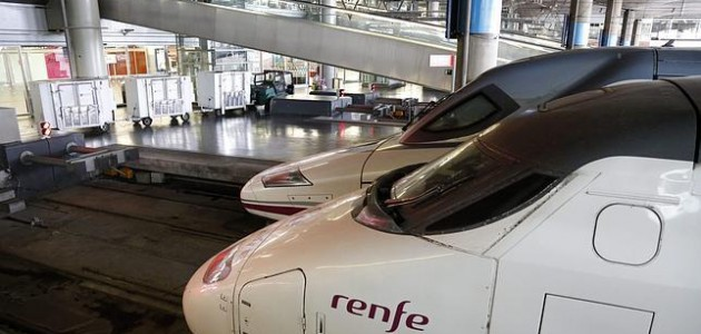 RENFE trains in Madrid